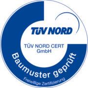 "Zertifikat ""Baumuster geprüft"" TÜV Nord"